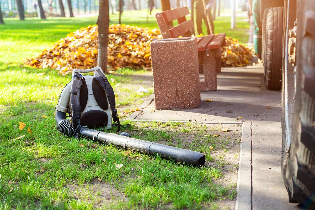 How to store a backpack leaf blower
