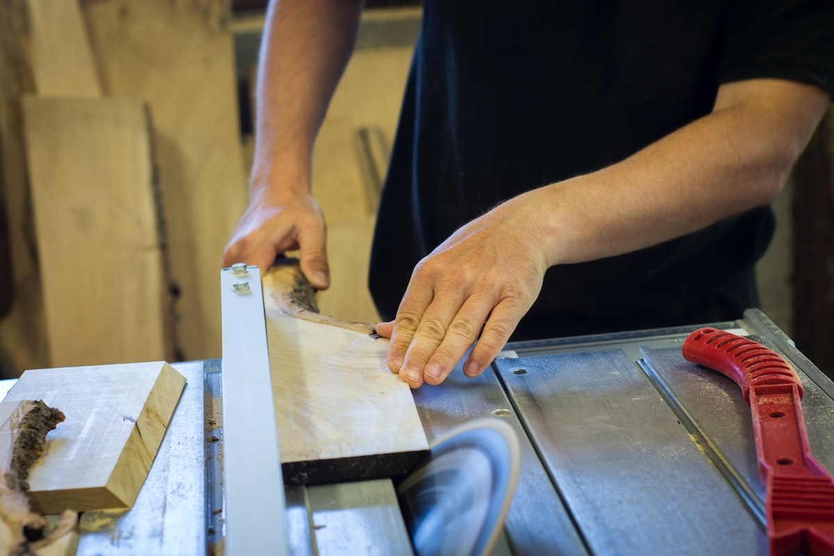 Cutting with a table saw