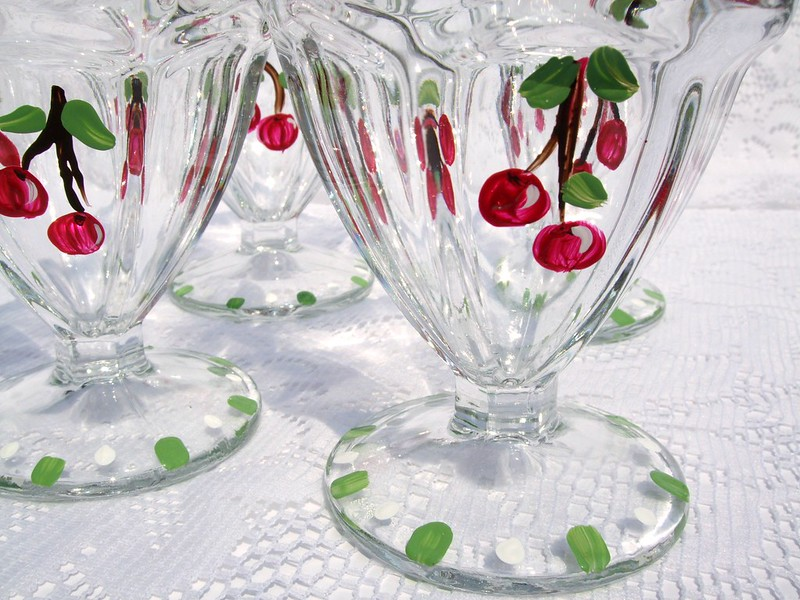 Painted Glass Cups