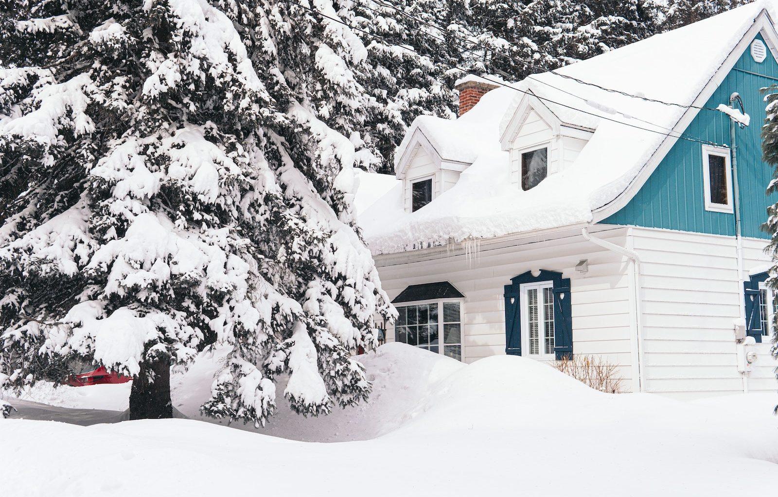 Snow removal around a house