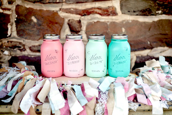 Painted Glass Mason Jars