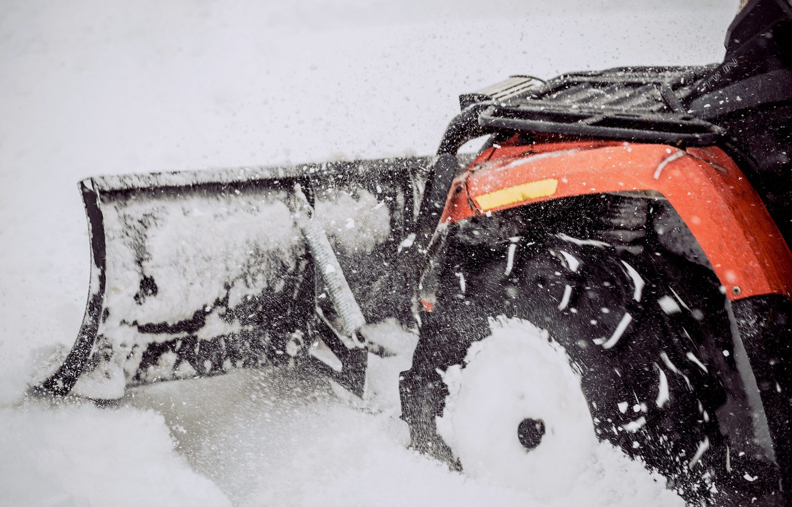 How to attach a snow plow to an ATV