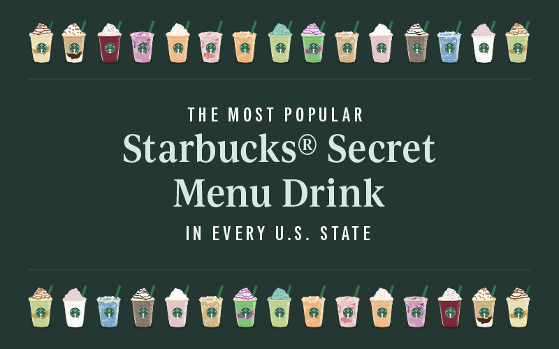 Title graphic for The Most Popular Starbucks Secret Menu Drink by State